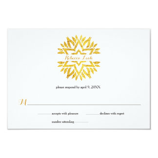 Goldfolien-Blick-Sternmandala-Schläger Mitzvah Karte