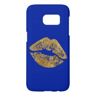 Goldfolien-Effekt-Kuss Samsung rufen Fall an