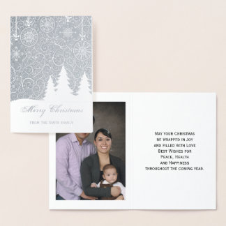 Goldfolien-frohe Weihnacht-Foto-Gruß-Karte Folienkarte