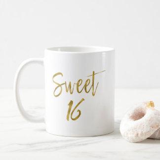 Goldfolien-Geburtstags-Kaffeetasse des Bonbon-16 Kaffeetasse