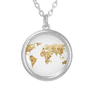Goldfolien-Karte Versilberte Kette