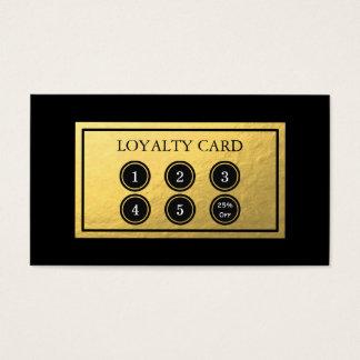 Goldfolien-Loyalitäts-Karte Visitenkarte