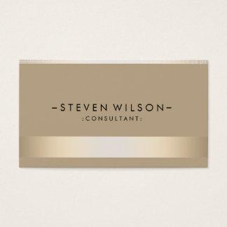 Goldfolien-Metallberufliches modernes elegantes Visitenkarten