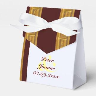 Goldgestreifte Hochzeit Geschenkschachtel