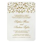 GoldGlamour-Glitterconfetti-Hochzeits-Einladung 12,7 X 17,8 Cm Einladungskarte