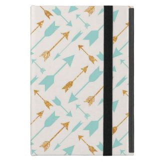 GoldGlitter-Aqua-Pfeil-Abdeckung für das iPad Mini iPad Mini Etui