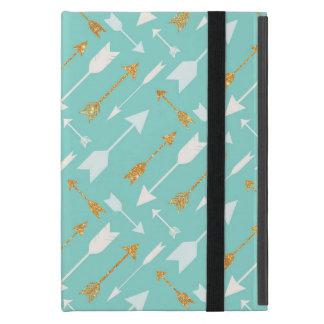 GoldGlitter-Aqua-Pfeil-Abdeckung für das iPad Mini iPad Mini Hülle