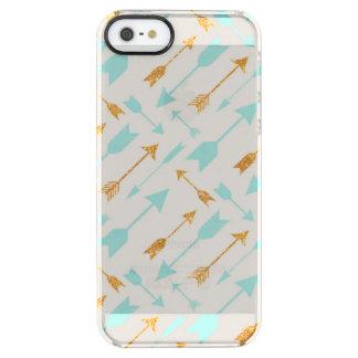 GoldGlitter-Aqua-Pfeile klären iPhone SE/5/5S Fall Durchsichtige iPhone SE/5/5s Hülle