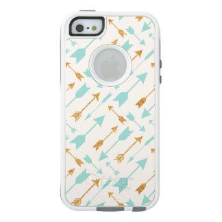 GoldGlitter-Aqua-Pfeile OtterBox iPhone SE/5/5s OtterBox iPhone 5/5s/SE Hülle