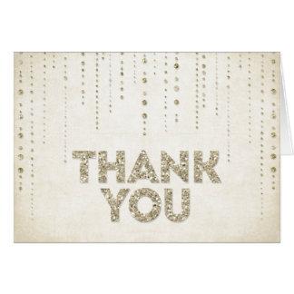 GoldGlitter-Blick danken Ihnen zu kardieren Grußkarte