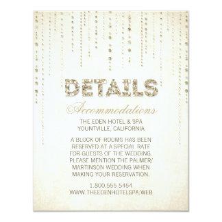 GoldGlitter-Blick-Hochzeits-Einzelkarte 10,8 X 14 Cm Einladungskarte