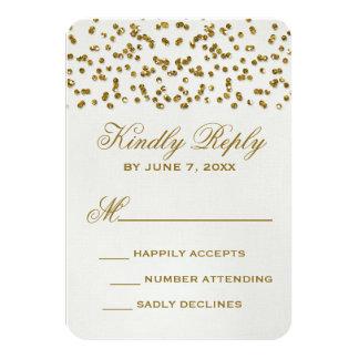 GoldGlitter-Blickconfetti-Hochzeit UAWG Karte 8,9 X 12,7 Cm Einladungskarte