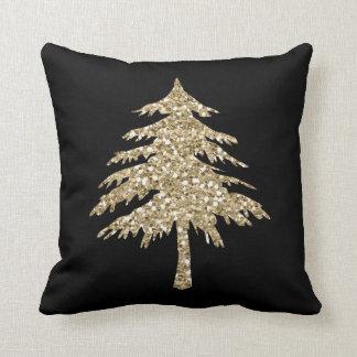 GoldGlitter-Effekt-Kiefern-Baum-Kissen im Kissen