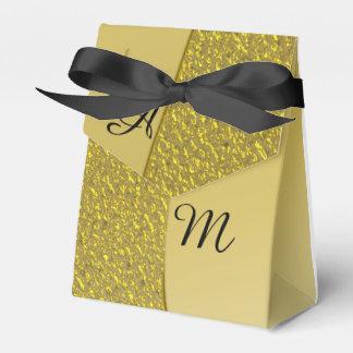 GoldGlitter-Effekt-personalisierte Hochzeit Geschenkkartons