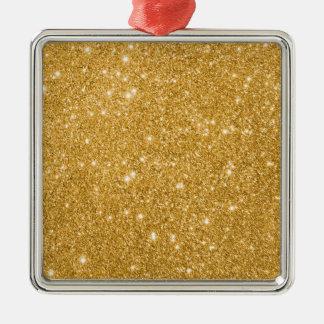 GoldGlitter-Glitzern Silbernes Ornament