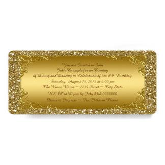 GoldGlitter-goldenes Karten-Party Karte