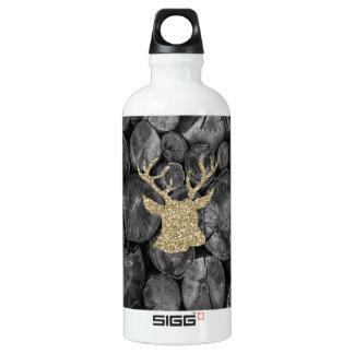 GoldGlitter-Hirsch/Rotwild-Holz zeichnet SIGG Aluminiumwasserflasche