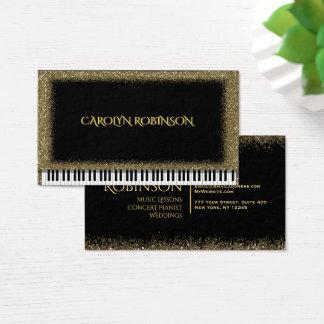 GoldGlitter-Klavier Visitenkarte