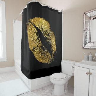 GoldGlitter-Lippen #4 Duschvorhang