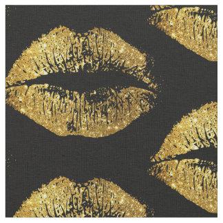 GoldGlitter-Lippen Stoff