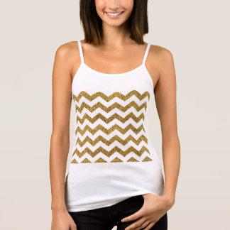 GoldGlitter sevron Tank Top