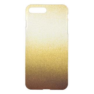 GoldGlitter-Steigung Ombre Muster transparent iPhone 7 Plus Hülle