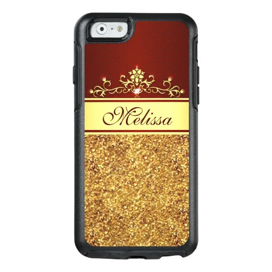 GoldGlitter Vintager roter OtterBox iPhone 6/6s OtterBox iPhone 6/6s Hülle