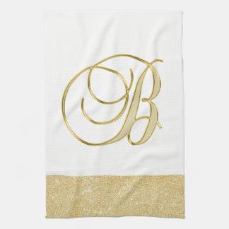 GoldGlitter-weiße Farbküche des Handtuch