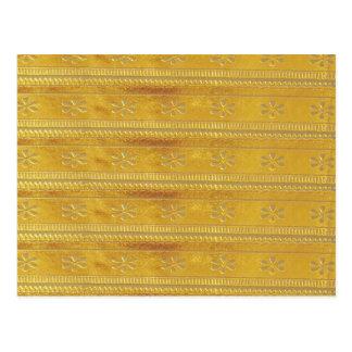 Goldgoldene Schablone addieren TEXT Postkarte