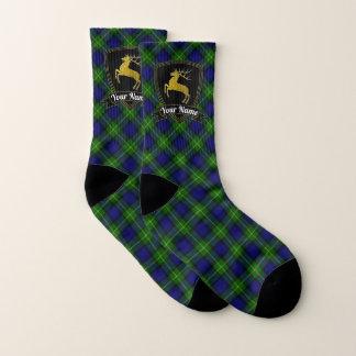 Goldhirsch-Name auf Tartan Socken