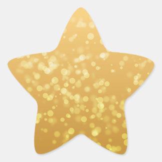 GoldImitat-Aufkleber Stern-Aufkleber