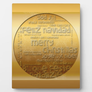 Goldinternationale WeihnachtenNavidad Plakette Fotoplatte