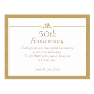 Goldjahrestag danken Ihnen Postkarte