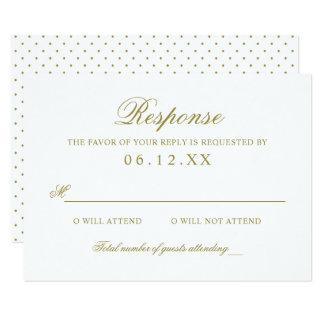 Goldklassiker-Eleganz der Hochzeits-Wartekarten-  8,9 X 12,7 Cm Einladungskarte