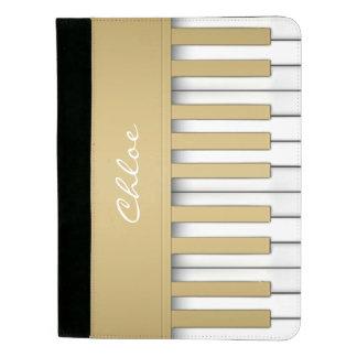 Goldklavier-Tastatur-Musik Padfolio