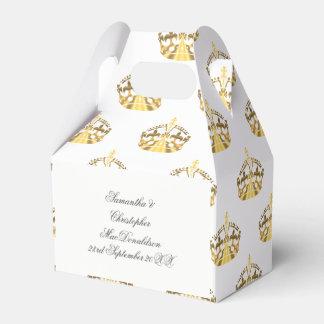 Goldkrone auf kundenspezifischer Farbhochzeit Geschenkschachtel