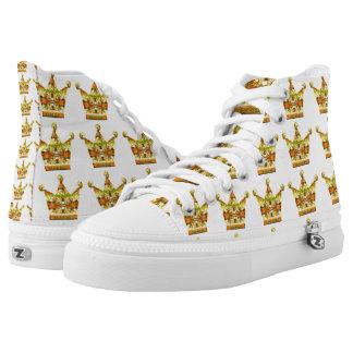 Goldkronen der Tink Märchen-Kunst durch Deprise Hoch-geschnittene Sneaker