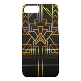 Goldkunst-Deko-Telefon-Kasten iPhone 8/7 Hülle