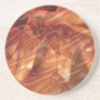 Goldkupferne Diamant-Rosen-Blume Sandstein Untersetzer