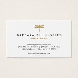 GOLDlibellen-LOGO Designer-Visitenkarte Visitenkarten