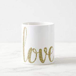 GoldLiebe-Kaffee-Tasse, Glitter Tasse