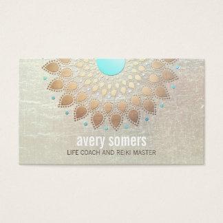 GoldLotus-Yoga und Meditations-LehrerWellness Visitenkarten