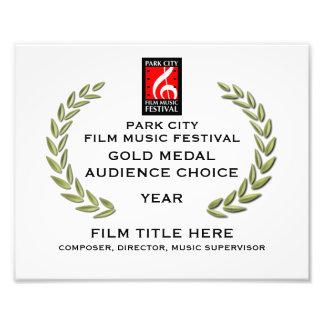 """Goldmedaillen-Zertifikat 10"""" x 8"""" Kunstphoto"""