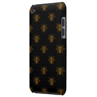 Goldmetallische Folien-Bienen auf Schwarzem Case-Mate iPod Touch Case