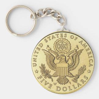 Goldmünze Schlüsselanhänger