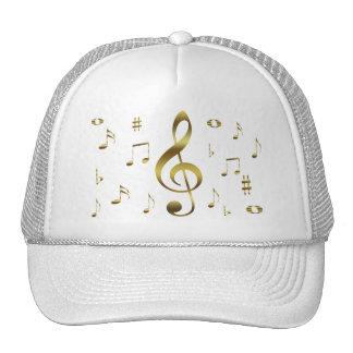 Goldmusikalische Anmerkungs-Hut Baseball Cap