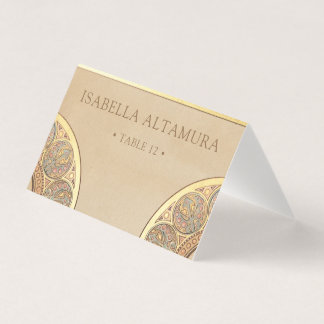 GoldNouveau Deko der Hochzeits-Platzkarte-| Platzkarte