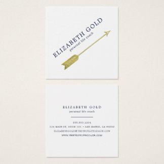Goldpfeil-Visitenkarte Quadratische Visitenkarte