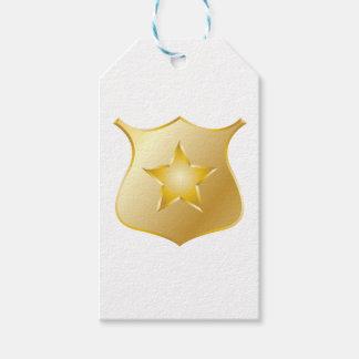 Goldpolizei-Abzeichen Geschenkanhänger