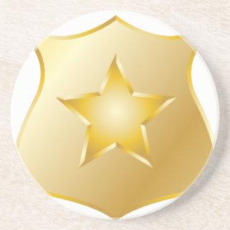 Goldpolizei-Abzeichen Sandstein Untersetzer